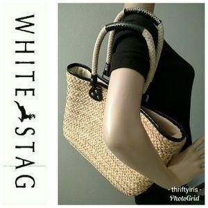 💐White Stag Woven Cornhusk Bag-Large🌽